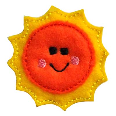 Smiling Sun Embroidery File