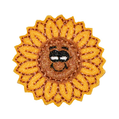 Smiling Sunflower Embroidery File