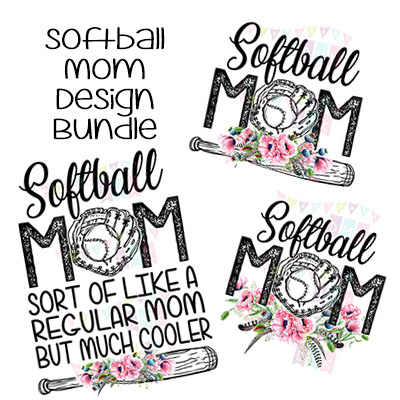 Softball Mom Poppies BUNDLE