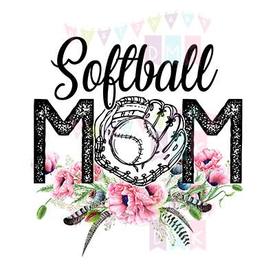 Softball Mom Poppies