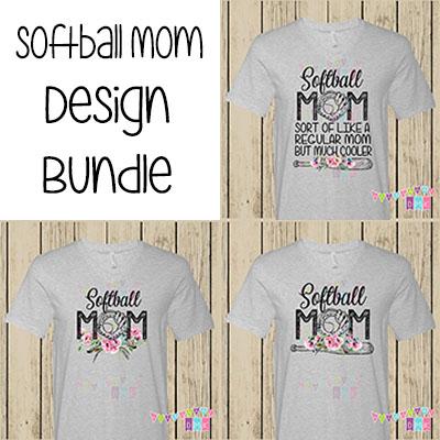 Softball Mom Poppies BUNDLE