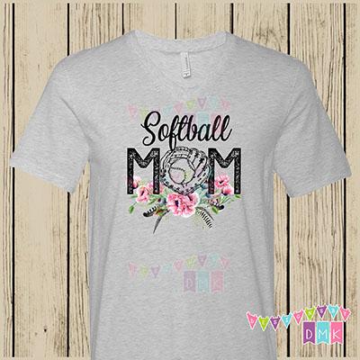 Softball Mom Poppies