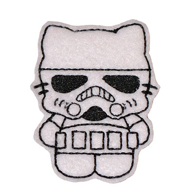 Star Kitty Trooper Embroidery File