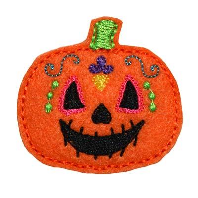 Sugar Skull Pumpkin Embroidery File