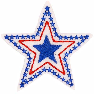 Patriotic Triple Star Blue