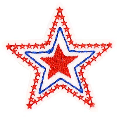 Patriotic Triple Star Red