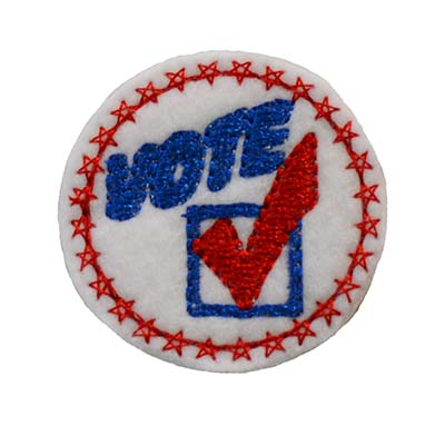 VOTE Circle Star Border Embroidery File