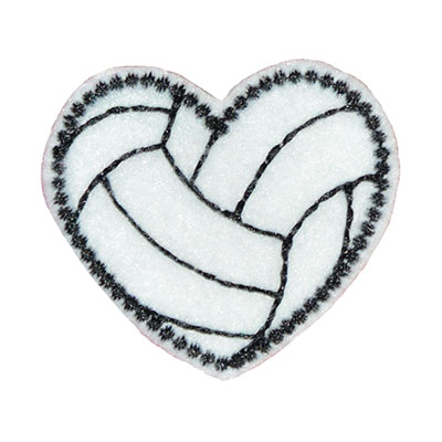 Volleyball Heart Embroidery File