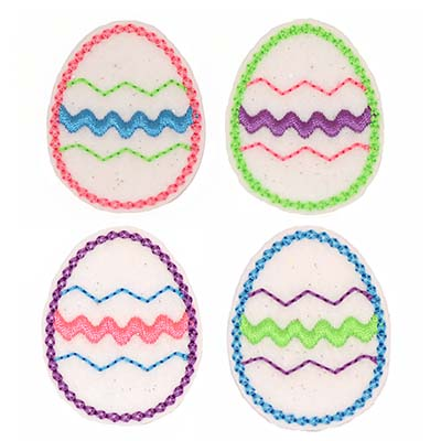 White Glitter Easter Egg Assortment
