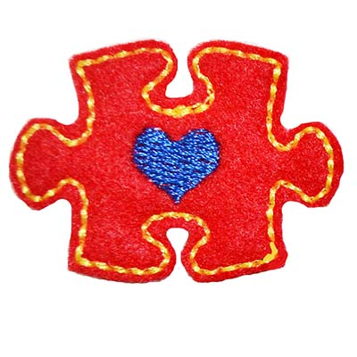 Autism Awareness Puzzle Piece Embroidery File