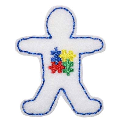 Autism Awareness Boy Embroidery File