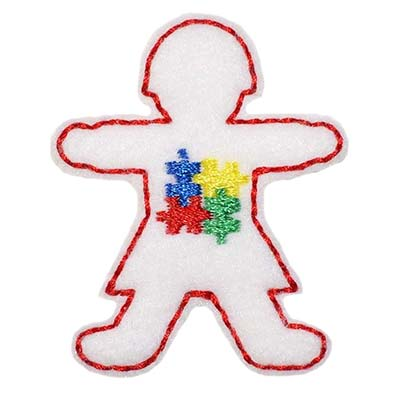 Autism Awareness Girl Embroidery File