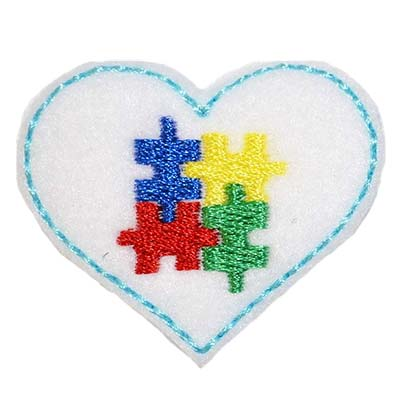 Autism Awareness Puzzle Heart Embroidery File