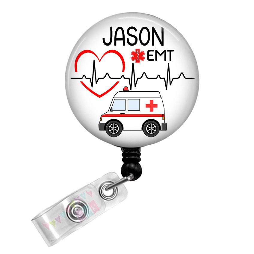 Ambulance - PERSONALIZED - EKG - Heart - EMT - Paramedic