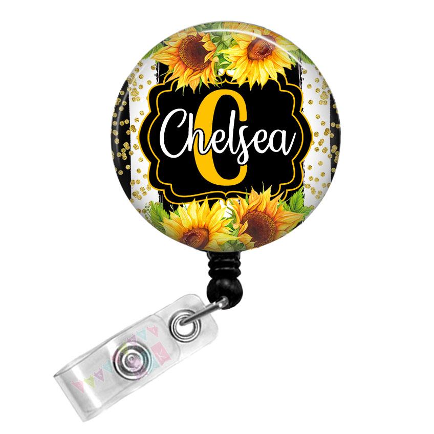 Floral Button Badge Reels