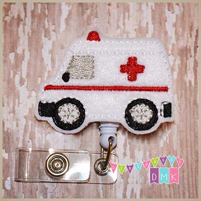Ambulance Felt Badge Reel