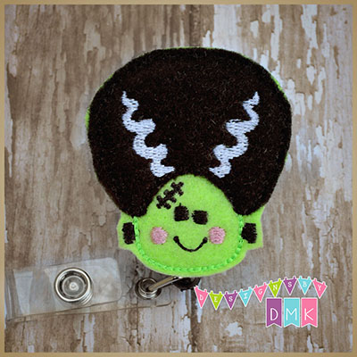 Bride of Frankenstein Felt Badge Reel