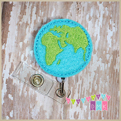 Earth Felt Badge Reel