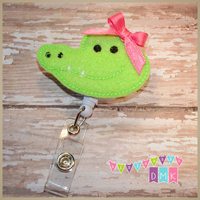 Alligator Felt Badge Reel