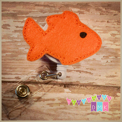 Goldfish Felt Badge Reel