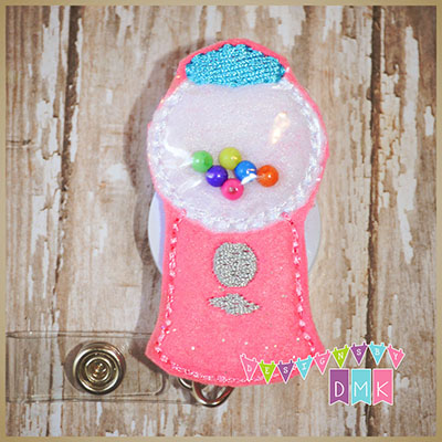 Gumball Machine Felt Badge Reel