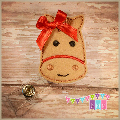 Horse - Tan with Red Badge Reel
