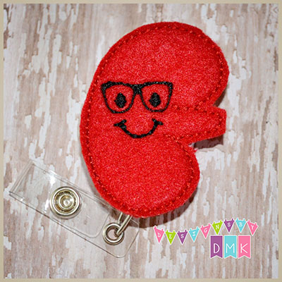 Kenny the Kidney Felt Badge Reel