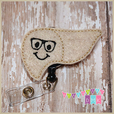 Lenny the Liver Felt Badge Reel