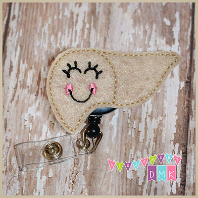 Louise the Liver Felt Badge Reel