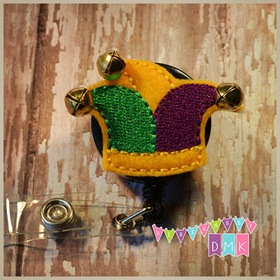Jester Hat Felt Badge Reel