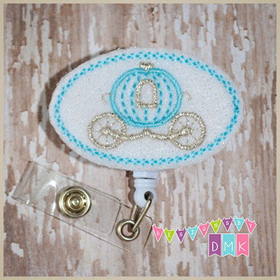 Princess Carriage Felt Badge Reel