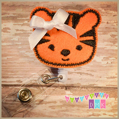 Tiger Felt Badge Reel