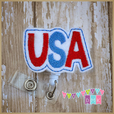 USA Felt Badge Reel
