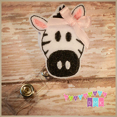 Zebra Felt Badge Reel