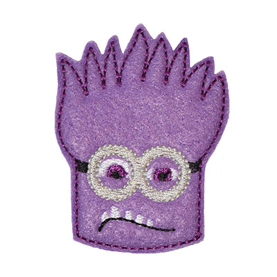 Banana Man Purple 2 Eyed Embroidery File