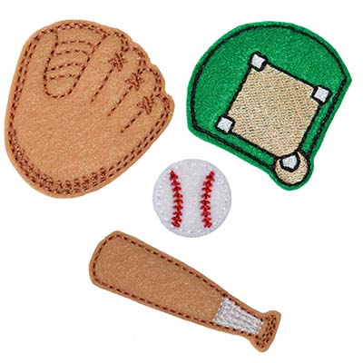 Baseball Set Embroidery File