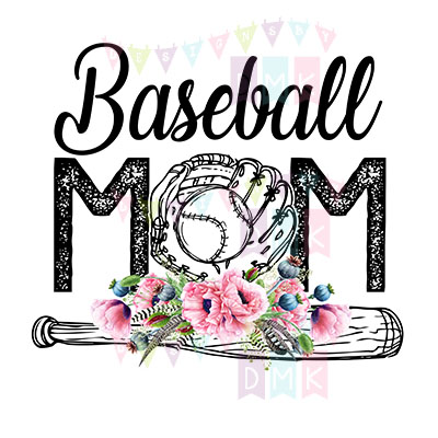 Baseball Mom Bat Poppies