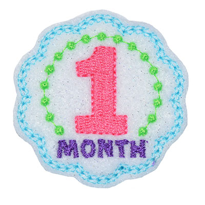 Birthday Months Set Embroidery File