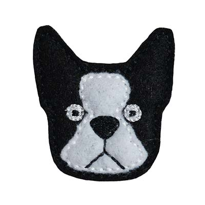 Boston Terrier Embroidery File