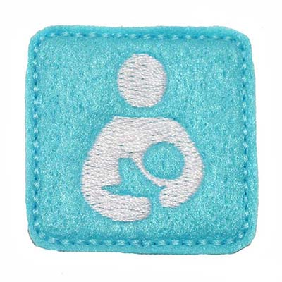 Breastfeeding Symbol Square Embroidery File