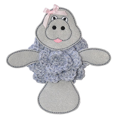 Build A Bow Manatee Embroidery File