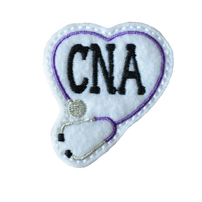 CNA Stethoscope Heart Embroidery File