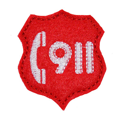 Call 911 Embroidery File