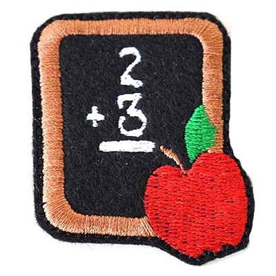Chalkboard with Apple Embroidery File