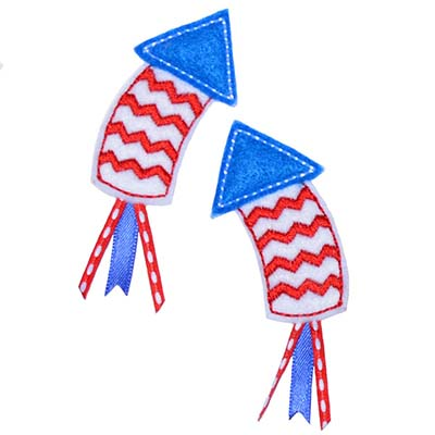 Chevron Firecracker Rocket Embroidery File