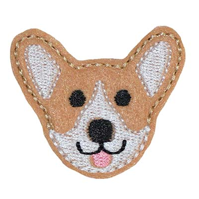 Corgi Face Embroidery File