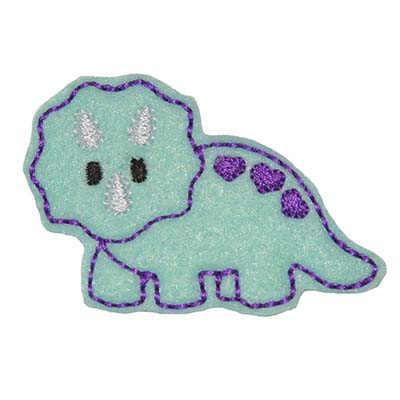 Dinosaur Triceratops Embroidery File