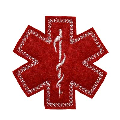 EMT Star of Life Embroidery File