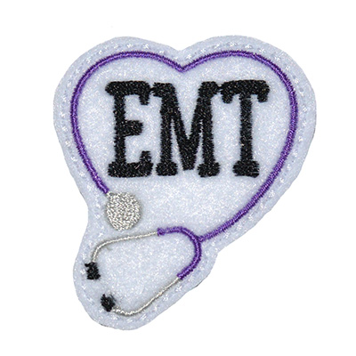 EMT Stethoscope Heart Embroidery File
