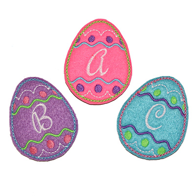Easter Egg Initials Embroidery File